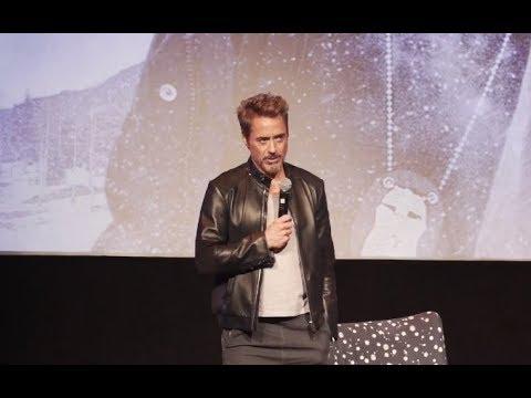 Robert Downey Jr  Jeremy Renner  Chris Evans Elizabeth Olsen  Wind River Screening Q&A