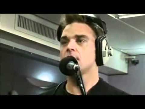 Robbie Williams singing  Shine Take That Cover @ BBC Radio 1 Live Lounge 07 10 2010