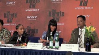 The Karate Kid (2010) Press Conference In Oslo -- PART TWO