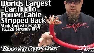 Blooming Copper Onion - MAMMOTH 8/0 Shok Audio OFC Power Cable - 16,226 Strands - First Strip
