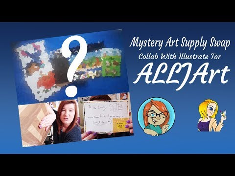 Mystery Art Supply Swap ~ Collab With Illustrate Tor