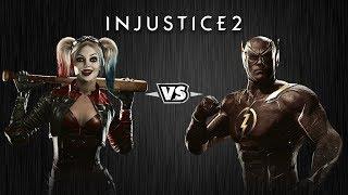Injustice 2 - Харли Квинн против Флэша - Intros & Clashes (rus)