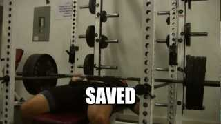 How To Bench Press Heavy Alone Safely...and Not Die (bench Press In Power Rack)
