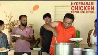 We Cooked Spicy Holi Chicken Biryani For Farm Staff