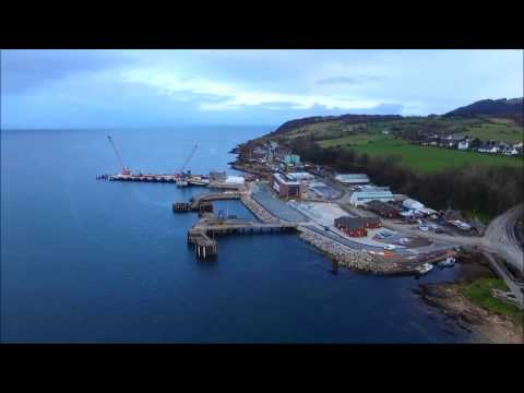 Isle Of Arran From The Air - Ayrshire - Drone Footage of Some Of Arran`s Towns