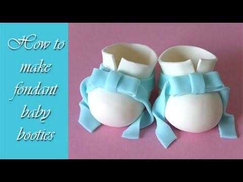 How to make fondant baby booties tutorial   Jak zrobić buciki z masy  cukrowej 154929975ea8