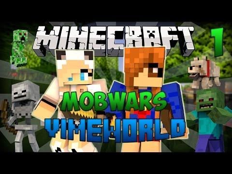 Minecraft Mob Wars #1|ХОРОШЕЕ НАЧАЛО!(VimeWorld)