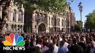 Video Vigil For Manchester Arena Attack Victims | NBC News download MP3, 3GP, MP4, WEBM, AVI, FLV November 2018