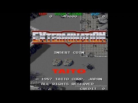 Extermination 1987 Taito Mame Retro Arcade Games
