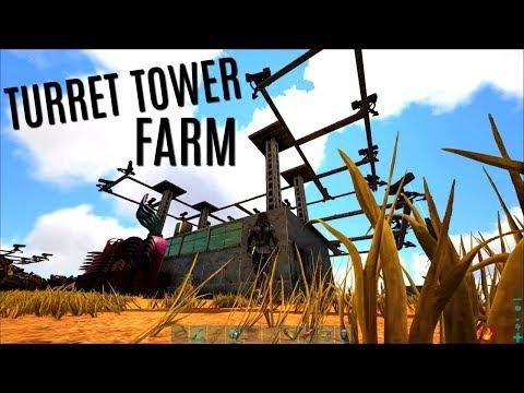 FARM TURRET TOWER and Random PVP - 5 Man Servers - ARK Survival