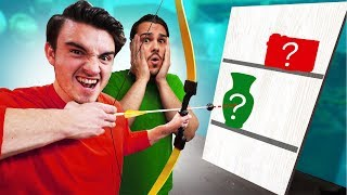 Shoot THEIR Item Behind The Wall Challenge!