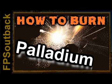 How to Burn Palladium - Interesting Chemical Reaction with Aluminum