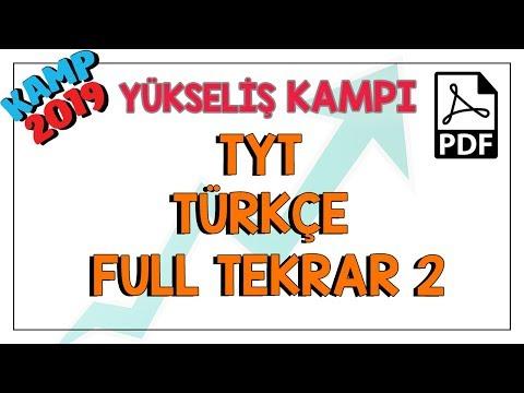 TYT Türkçe  Tekrar 2 | Kamp2019 #yükselişkampı