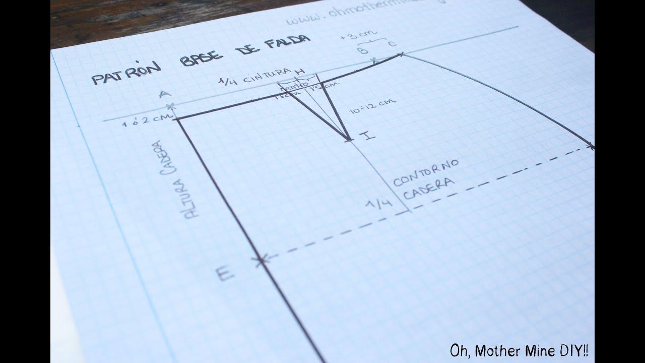 ef535e7e7 CURSO. Aprender a coser faldas parte 1: Cómo hacer un patrón base.