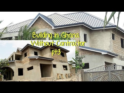 Building In Ghana Pt 3 // Plastering update