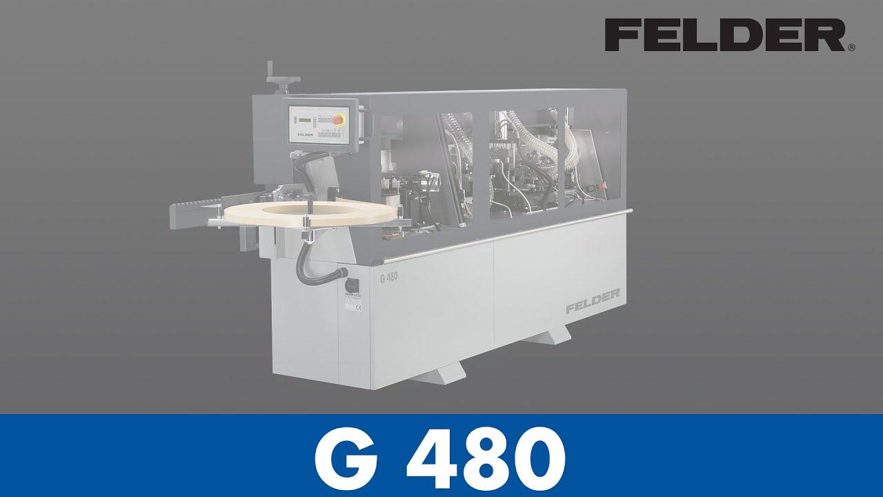 FELDER® - G480 - Edgebander (English) - YouTube