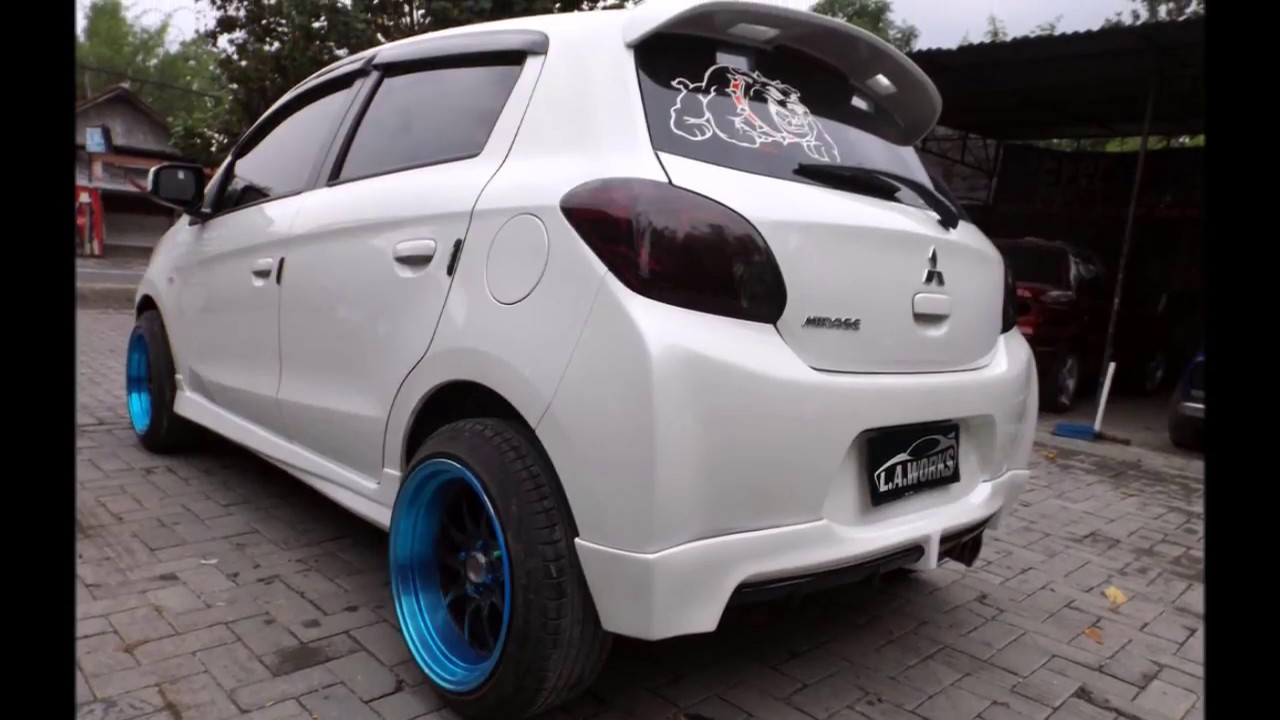Mitsubishi Mirage Wing Spoiler And Bodykit YouTube