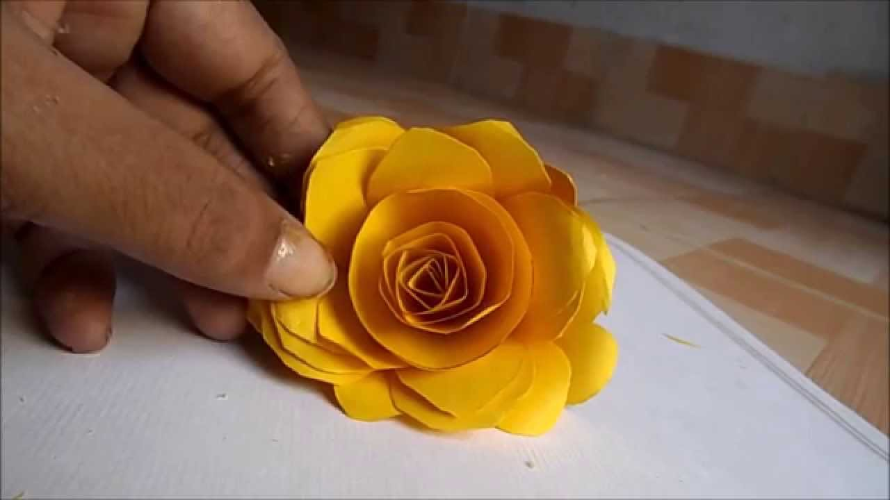 How To A Make Paper Rose At Home Step By Step Easily 2014