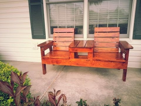 Making a Double Chair Bench with Table