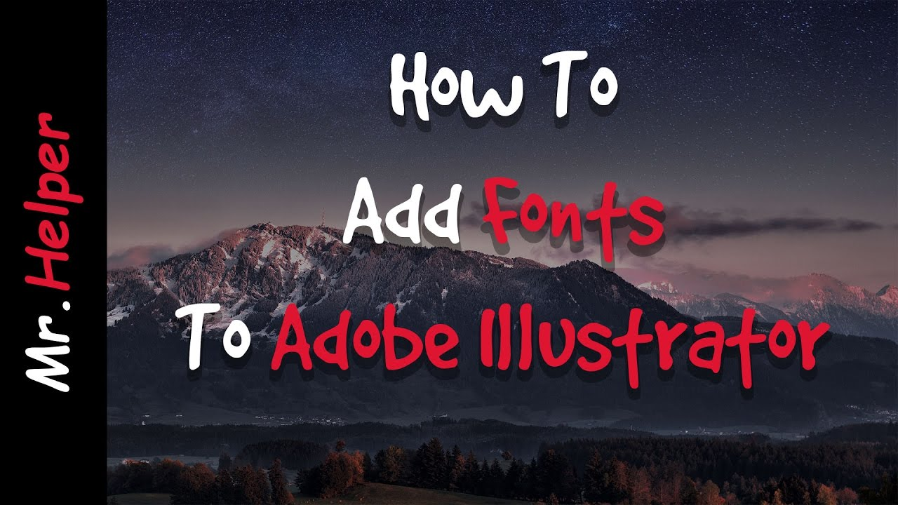 How to add fonts to adobe illustrator cccs6cs5 youtube how to add fonts to adobe illustrator cccs6cs5 ccuart Choice Image