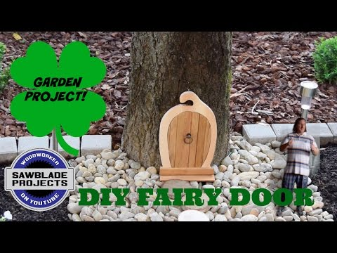 How To Make A FAIRY DOOR?   Woodworking And Garden Project!