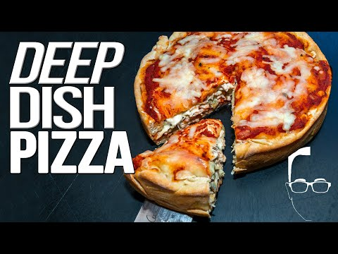 DEEP DISH PIZZA RECIPE (CHICAGO-STYLE) | SAM THE COOKING GUY 4K