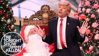 President Trump Visits Mall Santa to Make an Impeachment Wish