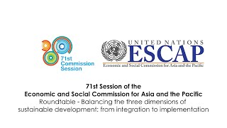 CS71: Balancing the three dimensions of sustainable development: from integration to implementation