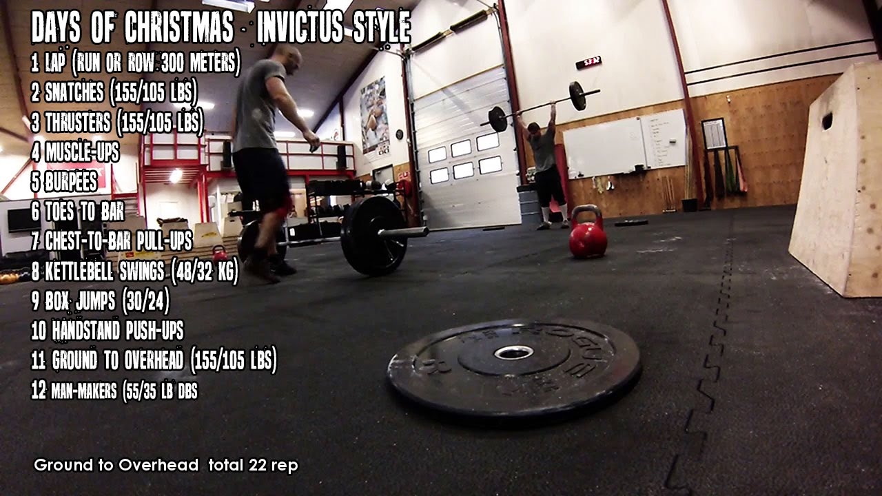 12 Days Of Christmas Crossfit Wod.12 Days Of Christmas Invictus Style Wod