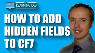 Adding Hidden Fields Using The Contact Form 7 Modules Plugin | Contact Form 7 Tutorials Part 11