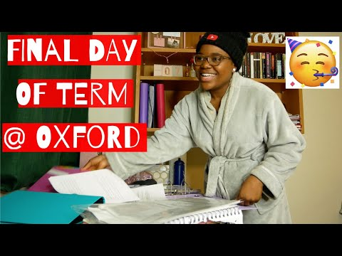 an ACTUAL day in the life of an Oxford student (last day of term)