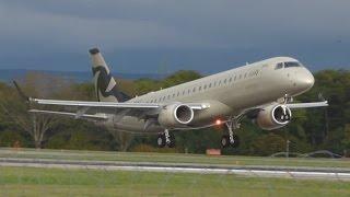 [FullHD] Al Jaber Embraer Lineage 1000 landing at Geneva/GVA/LSGG