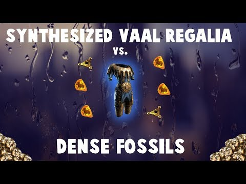 Crafting INSANE Vaal Regalia With DENSE FOSSILS! 🔥 (Path of Exile Synthesis League)