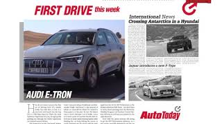 Audi's first all-electric vehicle E-Tron | This Week On AutoToday | Promo | 5th Jan 2019