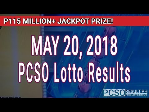 PCSO Lotto Results Today May 20, 2018 (6/58, 6/49, Swertres, STL & EZ2)