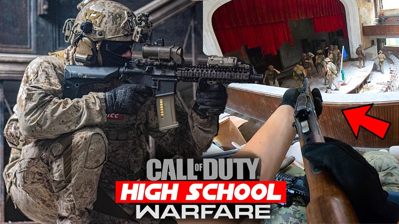 """Abandoned High School Airsoft MK18 + """"Shell Ejecting"""" Lever Action Gameplay!"""