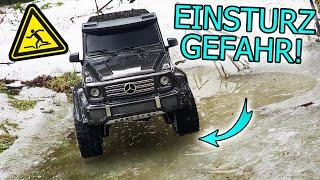 Die G-Klasse BRICHT im EIS EIN! | Offroad RC Crawling extrem!