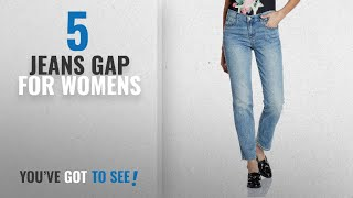 Top 10 Jeans Gap For Womens [2018]: GAP Women Mid Rise Stud-Pocket Real Straight Jeans