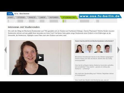 B.Sc. Biochemie studieren an der Freien Universität Berlin