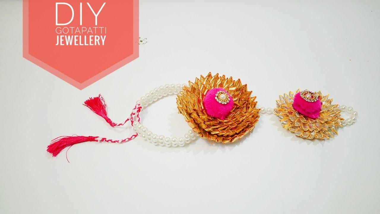6635e4889 Gota Patti  Jewellery   BRIDAL wearing   Gota Patti Art   How to make Gota  Patti   Art & Creativity❤