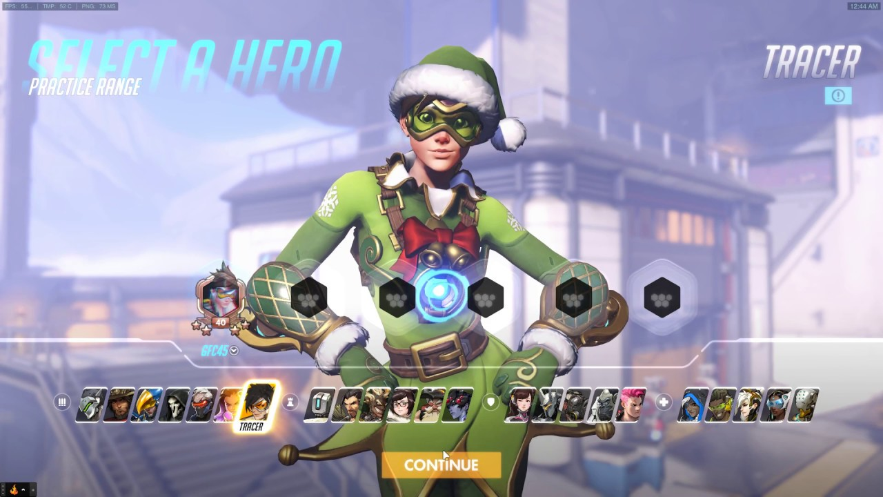 Tracer Christmas Skin.Jingle Tracer