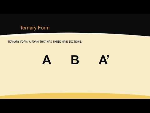 Ternary Form