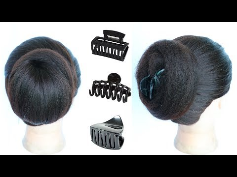 2 cute daily juda hairstyle using clutcher || hair style girl || easy hairstyles || cute hairstyles