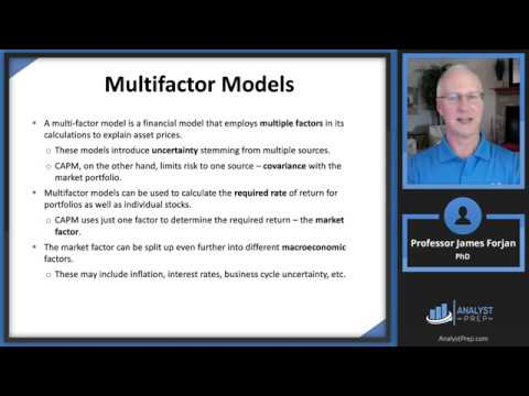 Arbitrage Pricing Theory And Multifactor Models Of Risk And Return (FRM P1 – Book 1 – Chapter 12)