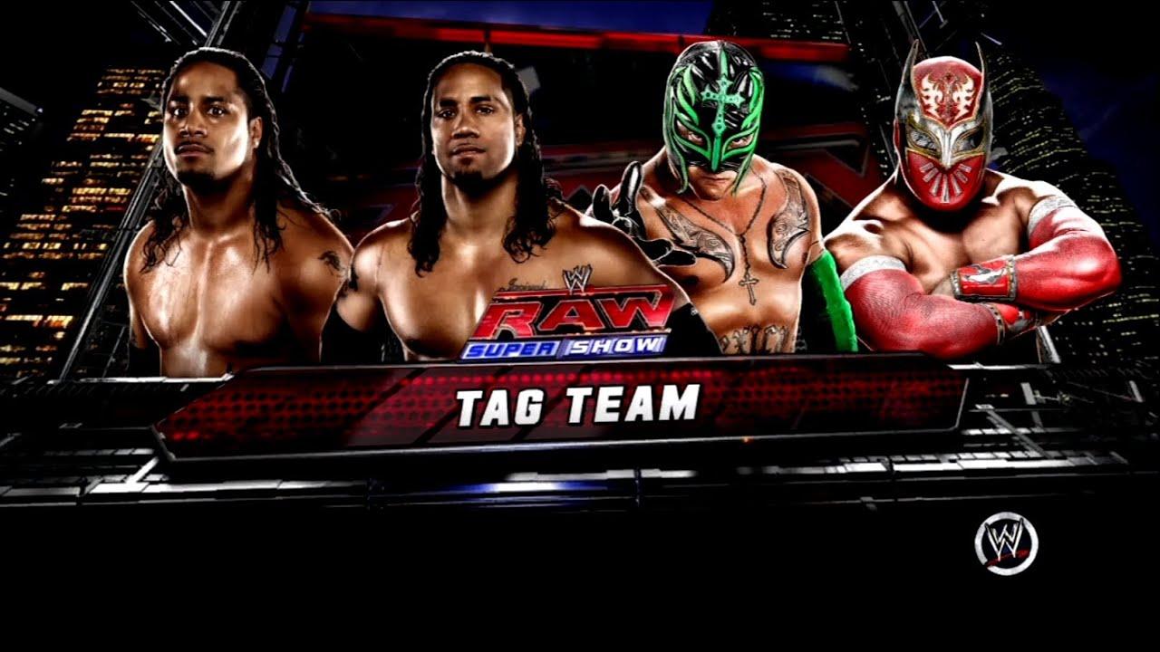 Wwe 13 the usos vs rey mysterio amp sin cara raw 4 match 2 youtube
