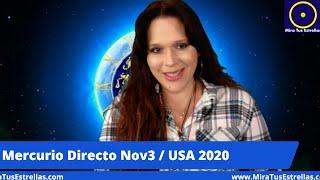 USA 2020 Nov 3 y Cómo Estarán las Estrellas ✨ Mercurio Directo en Libra ♎️
