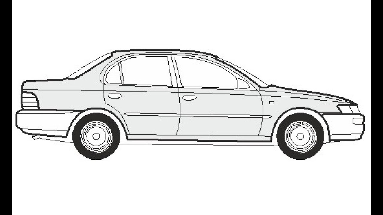 How to Draw a Toyota Corolla Limousine / Как нарисовать