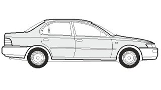 How to Draw a Toyota Corolla Limousine / Как нарисовать Toyota Corolla Limousine