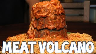 Spaghetti Meat Volcano (300th Video) | Furious Pete