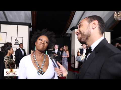 India.Arie interview at the 57th Grammy Awards